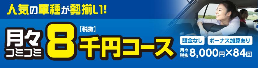 月々コミコミ 8千円コース